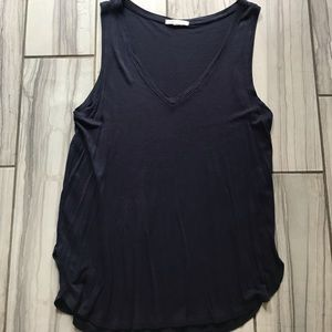 H&M navy blue basic tank top